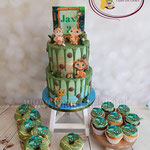 Jungle cupcakes and cake