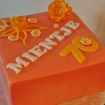 Oranje bloementaart