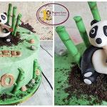 Panda met joint taart