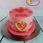 Roze met rode taart