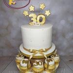 30 wit met goud