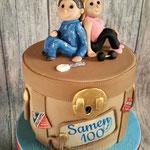 Sarah en Abraham, samen 100 taart