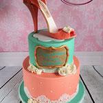 High heel taart pastel