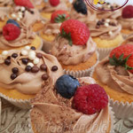 Vers fruit cupcakes