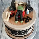 Benchpresser taart