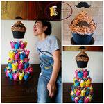Cupcake toren met Giant Cupcake