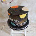 Universum en planeten taart