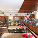 Der Speisesaal für Parties mit bis zu 200 Personen