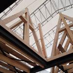 Fachwerkaufbau der zentralen Lichtkuppel des Hauptdaches