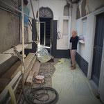 La petit cour pendant les travaux de rénovation ...