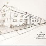 Bleistiftzeichnung Häuser
