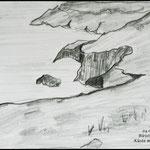 Bleistiftzeichnung Landschaft