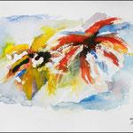 Sehr abstraktes Blumenbild