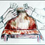 "Bildausschnitt aus Paul Cèzannes ""Die Kartenspieler"""