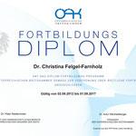 Fortbildungs-Diplom - Dr. Christina Felgel-Farnholz