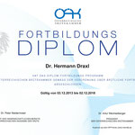 Fortbildungs-Diplom - Dr. Hermann Draxl