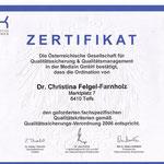 Qualitätszertifikat der Österreichischen Gesellschaft