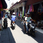 The tourist streets in Kuta