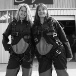 Carolin and me in our skydive outfits