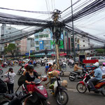 Crazy traffic in Ho Chi Minh