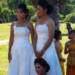 Bridemaids at Angkor Wat
