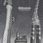 Chessman 1.00x0.64, Acryl auf Karton