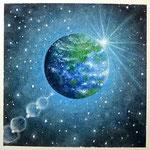 青く輝く地球