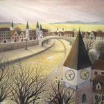 時計塔のある街