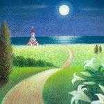 月明かりの道