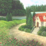 薔薇の咲く小道