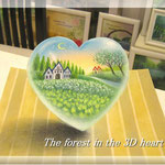 3Dハートの森
