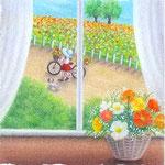お花摘みの帰り