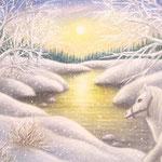 1月 白い朝カレンダー