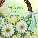 春を迎えるリースブーケ