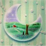 月のクリアブレスレット