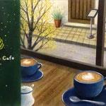 秋のカフェから