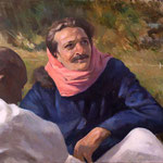 Meher Baba with Mast at Rahuri 1937