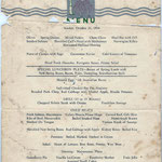 Luncheon menu Oct. 21st 1934