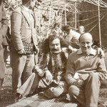 Meher Baba with Meredith Starr at East Challacombe, Devonshire, UK  - April 1932
