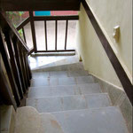 stairway off the porch