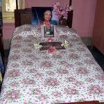 2004 - Mehera's bed ; photo taken by Sher DiMaggio