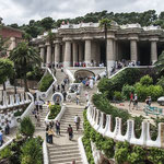 Gaudi steps in Park Guell ~ Barcelona