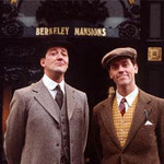 Stephen Fry ( left ) and Hugh Lowry ( right ) as characters from the TV series