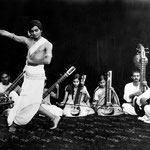 Uday performing with his troupe