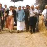 Meher Mount 1956; Adi K Irani on Baba's right & Eruch holding the umbrella