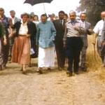 Meher Mount 1956; Adi K Irani on Baba's right & Eruch holding the umbrella
