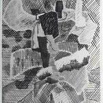 "Roger Vieillard artwork from Don Stevens book ""The Blue Shawl"""