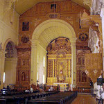 Interior view towards altar