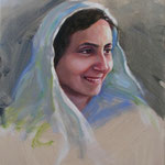 "2013 : Mehera - Oil - 20""x16"" - Courtesy of AMBT, India"