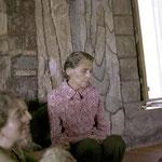 1970s ; Ella Winterfeldt inside Baba's Tomb